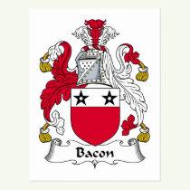 Bacon Family Crest Postcard