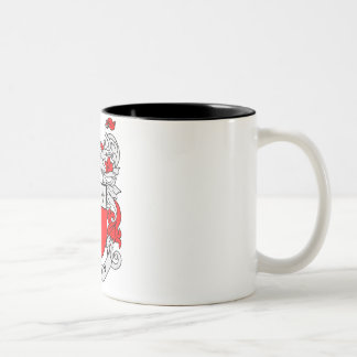 Bacon Family Crest Two-Tone Coffee Mug