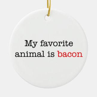 Bacon Favorite Animal Ceramic Ornament