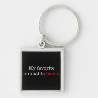Bacon Favorite Animal Keychain