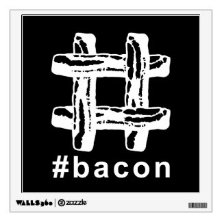 Bacon Fest Hashtag (Black Background) Wall Decal