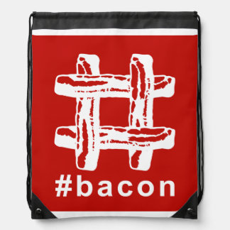 Bacon Fest Hashtag (Red Background) Backpack