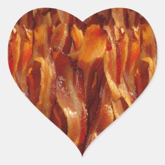 Bacon Field Yummy Pattern Decor Heart Sticker
