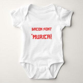 Bacon Font 'Murica! Baby Bodysuit
