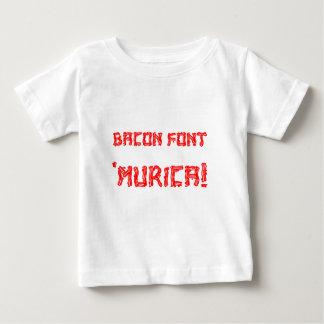Bacon Font 'Murica! Baby T-Shirt