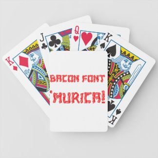 Bacon Font 'Murica! Bicycle Playing Cards