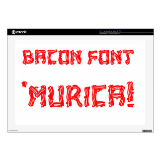 Bacon Font 'Murica! Decal For Laptop