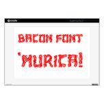 Bacon Font 'Murica! Skins For Laptops