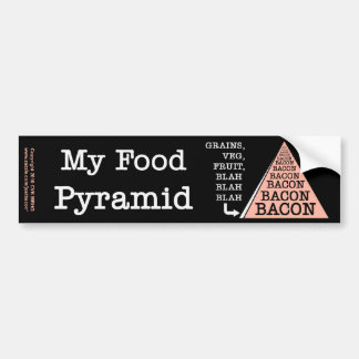 Bacon Food Pyramid Bumper Sticker