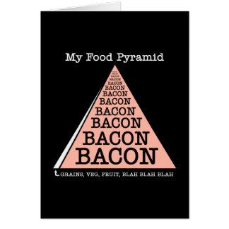 Bacon Food Pyramid Card