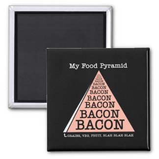 Bacon Food Pyramid Magnet