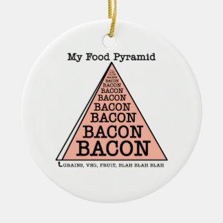 Bacon Food Pyramid Christmas Ornaments