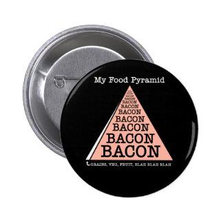 Bacon Food Pyramid Pinback Button