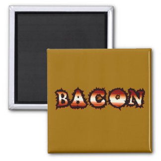 BACON Frenzy Fot 2 Inch Square Magnet