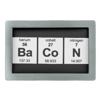 Bacon Geek Periodic Table of Elements Belt Buckle