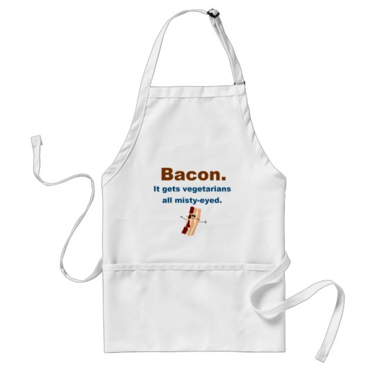 Bacon gets vegetarians misty-eyed adult apron