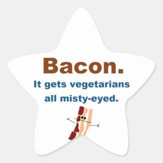 Bacon gets vegetarians misty-eyed star sticker