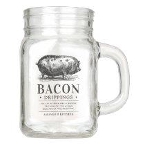Bacon Grease Drippings | Customizable Kitchen Mason Jar