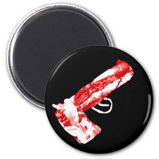 Bacon Gun 2 Inch Round Magnet