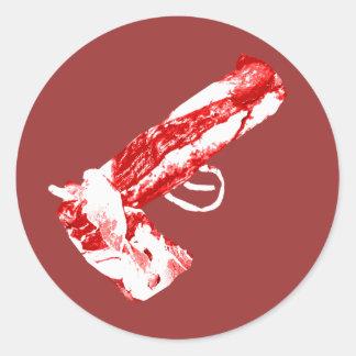 Bacon Gun Classic Round Sticker
