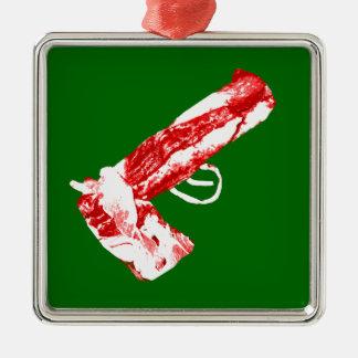 Bacon Gun Metal Ornament