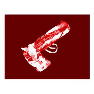Bacon Gun Postcard