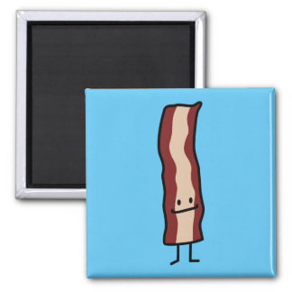 Bacon Happy Smirk Classic Simple Food Design Magnet