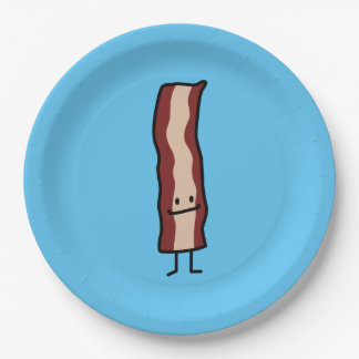 Bacon Happy Smirk Classic Simple Food Design Paper Plate