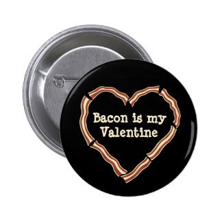 Bacon heart anti Valentine's Day Button