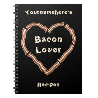 Bacon heart blank recipe journal