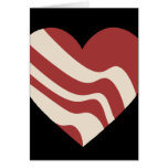 Bacon Heart Greeting Cards