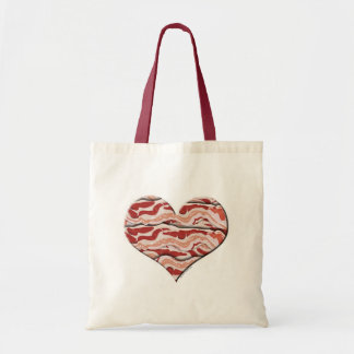 Bacon Hearted Tote Bags