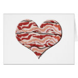 Bacon Hearted Greeting Card