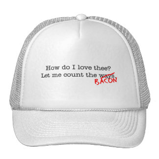 Bacon How Do I Love Thee Mesh Hat