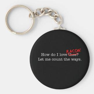 Bacon How Do I Love Thee Keychain