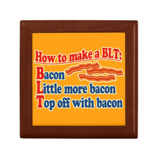 Bacon How to Make a BLT Sandwich Jewelry Box