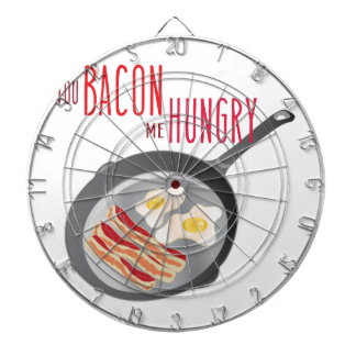 Bacon Hungry Dartboard With Darts