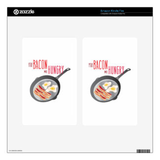 Bacon Hungry Kindle Fire Decals