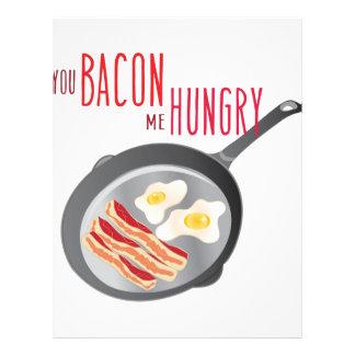 Bacon Hungry Letterhead