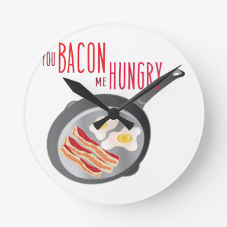 Bacon Hungry Round Clock