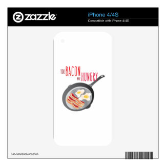 Bacon Hungry Skin For iPhone 4