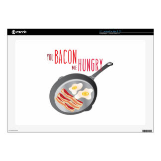 """Bacon Hungry Skins For 17"""" Laptops"""