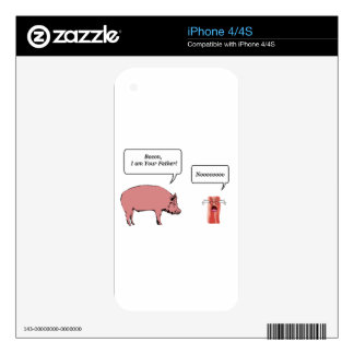 Bacon, I Am Your Father Decals For The iPhone 4S