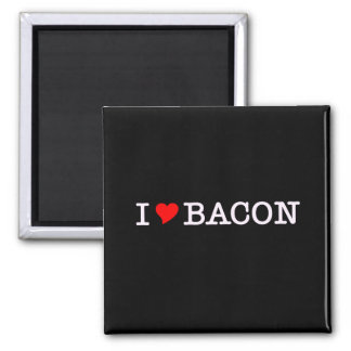 Bacon I Love 2 Inch Square Magnet