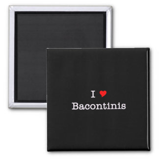 Bacon I Love Bacontinis 2 Inch Square Magnet