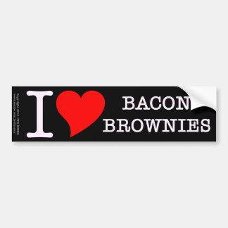 Bacon I Love Brownies Car Bumper Sticker