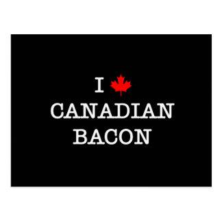 Bacon I Love Canadian Postcard