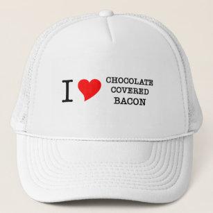 c0a5d65e6aeb3 Bacon I Love Chocolate Trucker Hat