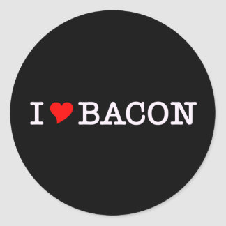 Bacon I Love Classic Round Sticker