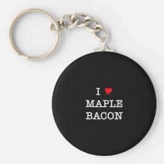 Bacon I Love Maple Keychain